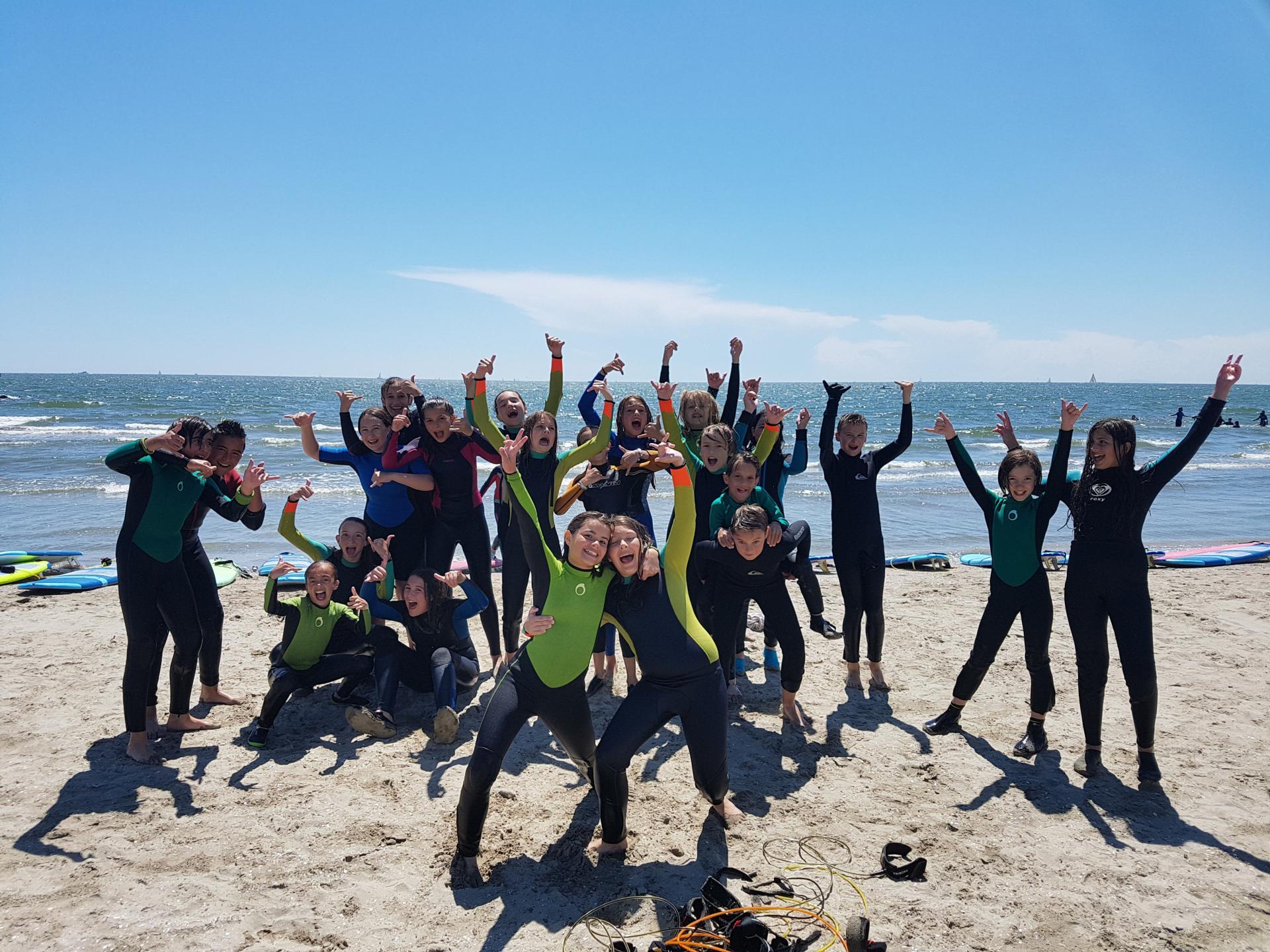 Groupes cours de surf